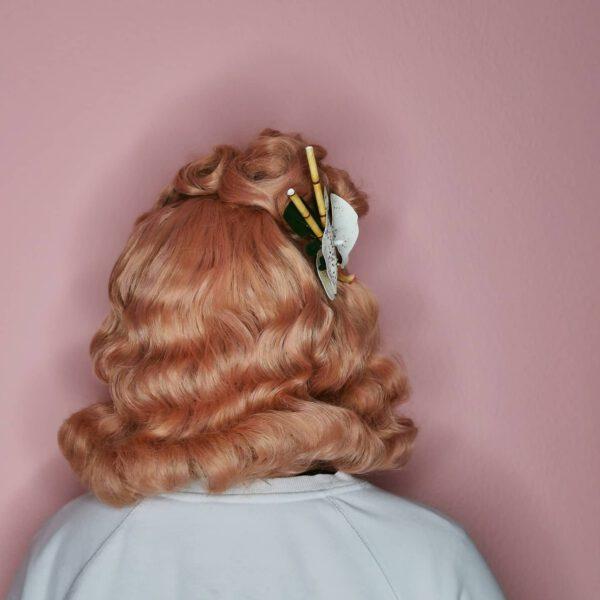 Perücke im Vintage stil 50er Jahre rosa pink